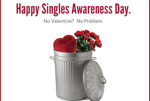 Le 15 février, les célibataires américains affichent leur fierté de ne pas être en couple et c'est juste le lendemain de la Saint-Valentin !