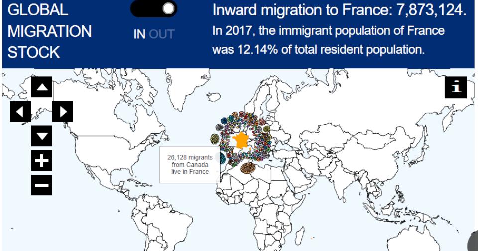 Image de la carte interactive des migrants